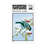 bird and berries postage