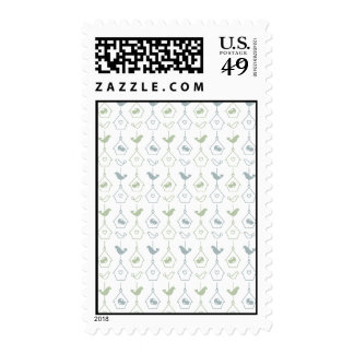 Bird and Bird Boxes Postage Stamp