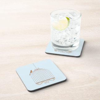 Bird and Birdcage Coaster