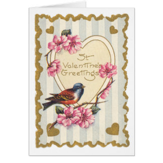 Bird and Bloom St Valentine s Greetings Greeting Cards