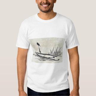 Bird and boat among reeds Ukiyoe Tee Shirts