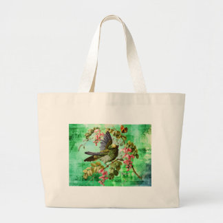 BIRD AND BUTTERFLY LARGE TOTE BAG