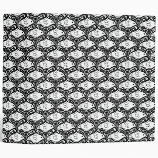 Bird and Butterfly Tessellation in Black and White Binder