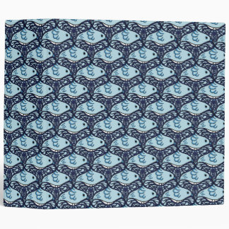 Bird and Butterfly Tessellation in Blue Binder