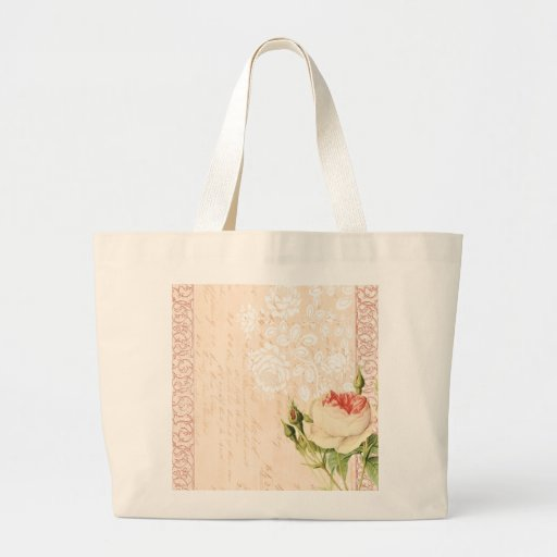 Bird and Butterfly Victorian Design Jumbo Tote Bag