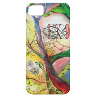 bird and cage iphone case