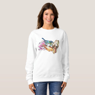 Bird and crystals sweatshirt