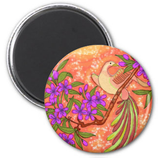 Bird and Floral Magnet