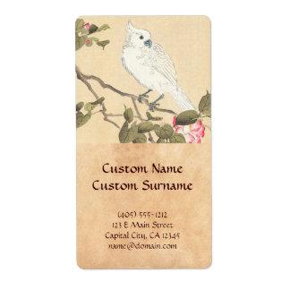 Bird and Flower Album, Cockatoo and Camellia Label