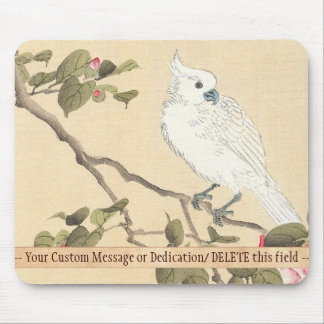 Bird and Flower Album, Cockatoo and Camellia Mouse Pad