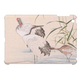 Bird and Flower Album, Wading Cranes vintage art iPad Mini Cases