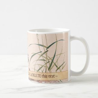 Bird and Flower Album, Wading Cranes vintage art Coffee Mug