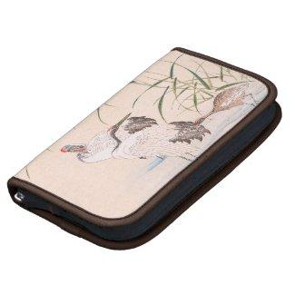 Bird and Flower Album, Wading Cranes vintage art Planners