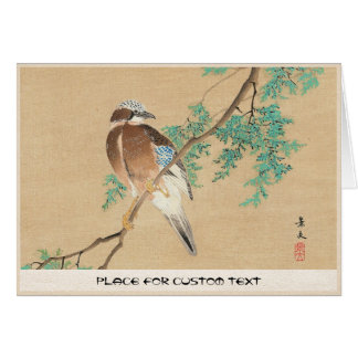 Bird and Flower, Eurasian Jay and Chinese Arborvit Card