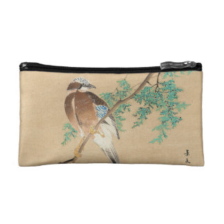 Bird and Flower, Eurasian Jay and Chinese Arborvit Cosmetic Bag
