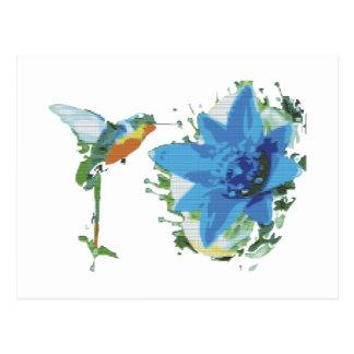 Bird And Flower Postcard