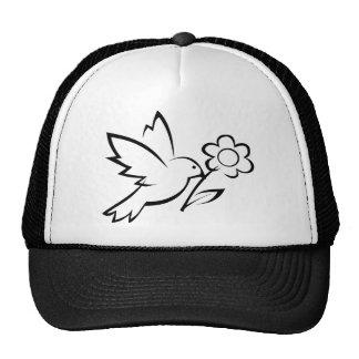 Bird and Flower Trucker Hat