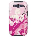 Bird and Flowers Samsung Galaxy S3 Vibe Case Samsung Galaxy SIII Covers
