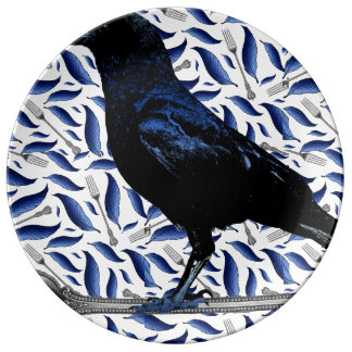 Bird and Fork Decorative Plate