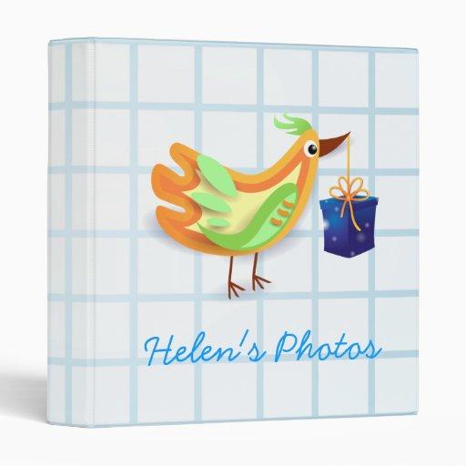 Bird and gift, binder