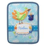 Bird and gift, iPad sleeve