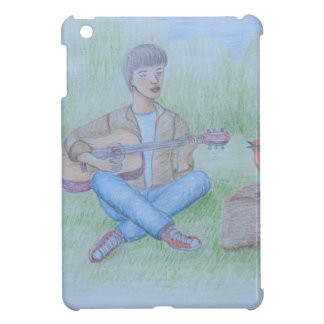 bird and man singing iPad mini cover