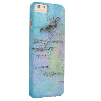 bird and music design on watercolor barely there iPhone 6 plus case