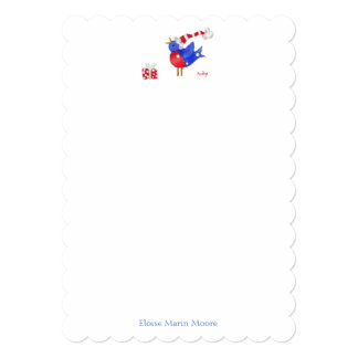 Bird and Package notes 5x7 Paper Invitation Card