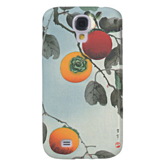 Bird and Persimmons Japanese Woodblock Print iPhon Samsung Galaxy S4 Cover