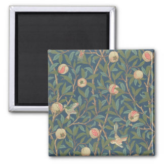 'Bird and Pomegranate' Wallpaper Design, printed b 2 Inch Square Magnet