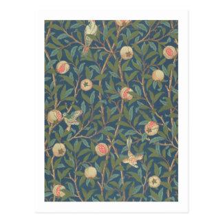 'Bird and Pomegranate' Wallpaper Design, printed b Postcard