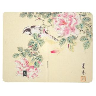 Bird and Roses Imao Keinen ukiyo-e flowers Japan Journals