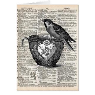 Bird and tea cup cards