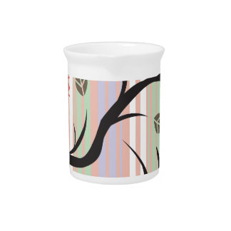 Bird and Tree Drink Pitcher
