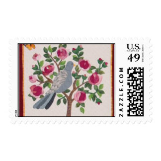 Bird Applique Quilt Block Stamp