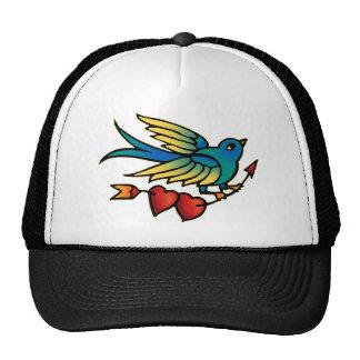 Bird Arrow and Hearts Trucker Hat