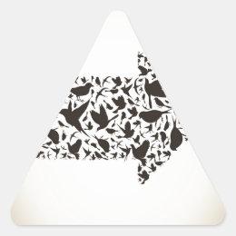 Bird arrow triangle sticker