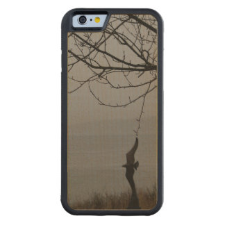 Bird Art and Tree Carved Maple iPhone 6 Bumper Case