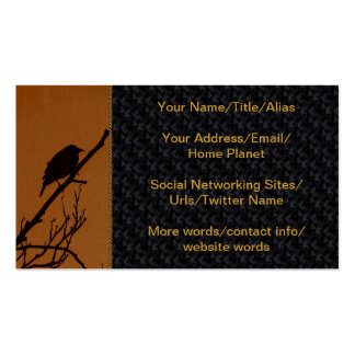 Bird Art Double-Sided Standard Business Cards (Pack Of 100)