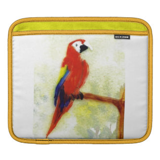 Bird Art Colorful Macaw Sleeve For iPads