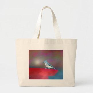 Bird Art Large Tote Bag