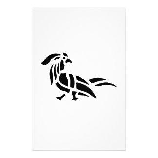 Bird Art Silhouette Personalized Stationery