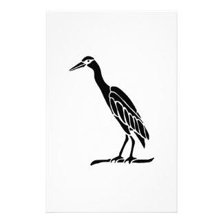 Bird Art Silhouette Customized Stationery