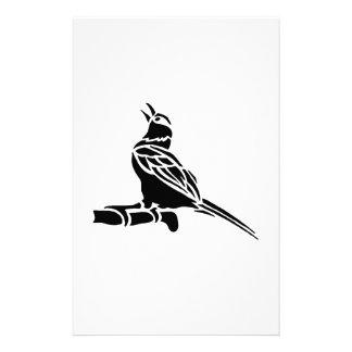 Bird Art Silhouette Stationery Paper