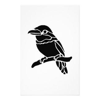 Bird Art Silhouette Custom Stationery