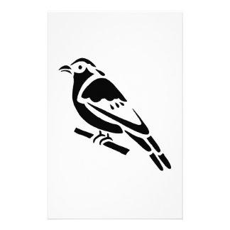 Bird Art Silhouette Stationery Design
