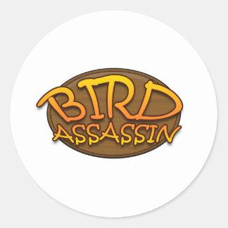 Bird Assassin Logo Classic Round Sticker