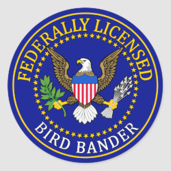 Bird Bander Seal Round Sticker