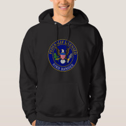Men's Basic Hooded Sweatshirt with Bird Bander Seal design