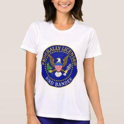 Ladies Performance Micro-Fiber T-Shirt with Bird Bander Seal design